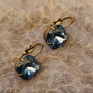 Liz Palacios Crystal earrings blue